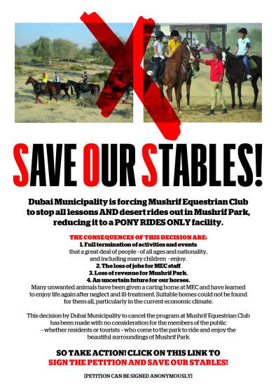 SAVE OUR STABLES